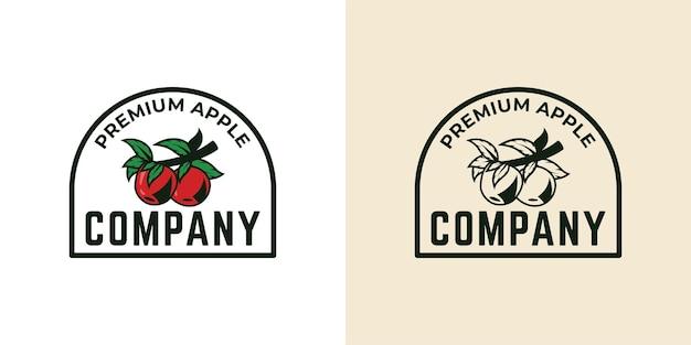 Création de logo de ferme d'apple