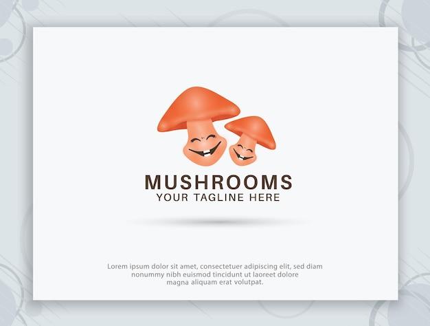 Création de logo de ferme de champignons
