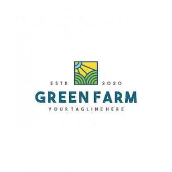 Création de logo de ferme verte créative