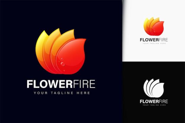 Création de logo de feu de fleur avec dégradé