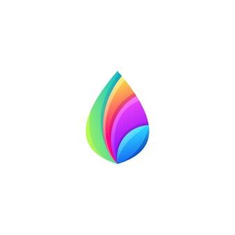 Création de logo de feuille coloré génial