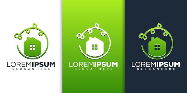Création de logo de feuille à la maison