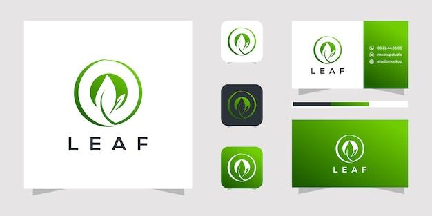Création de logo de feuille