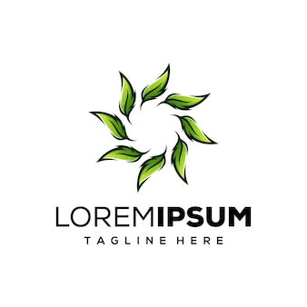 Création de logo de feuilles