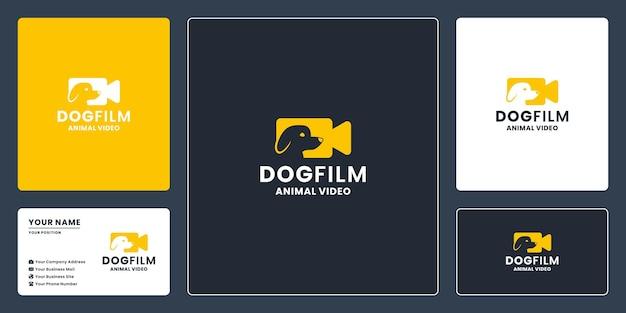 Création de logo de film de chien pour un film d'éducation animale