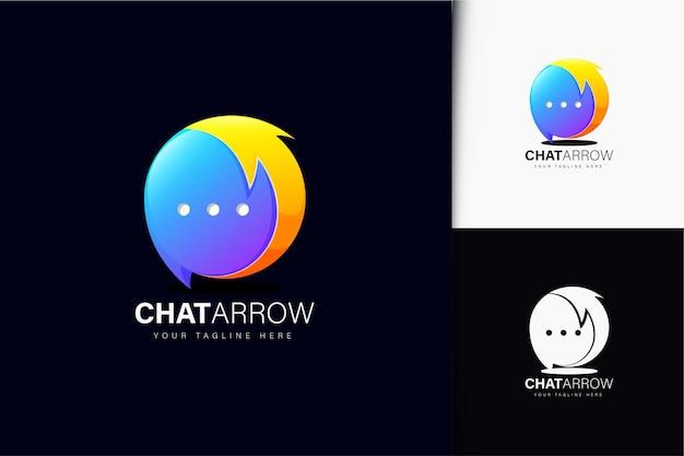Création de logo de flèche de discussion avec dégradé
