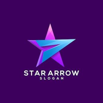 Création de logo de flèche étoile
