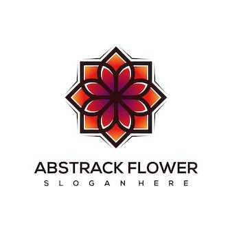 Création de logo de fleur abstrack