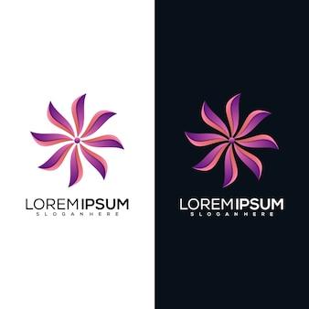 Création de logo de fleur abstraite