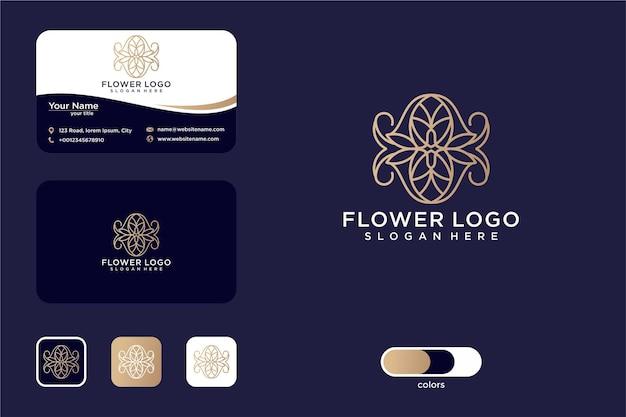 Création de logo de fleur d'art belle ligne