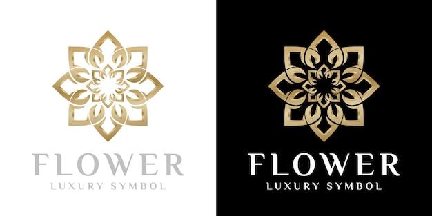 Création de logo de fleur de beauté, modèle