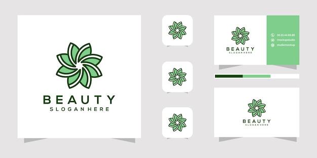 Création de logo de fleur de beauté