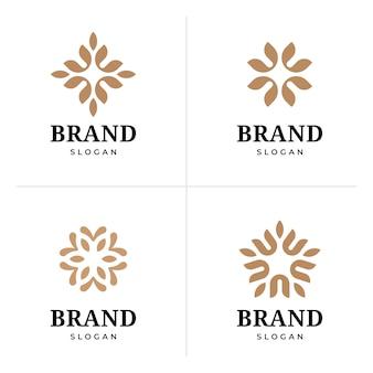 Création de logo de fleur élégante abstraite