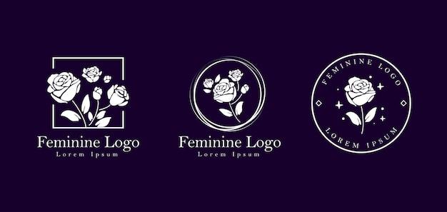 Création de logo de fleur féminine