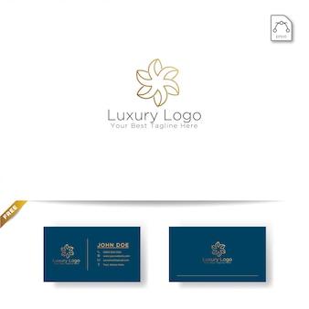 Création de logo de fleur d'or