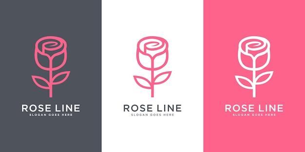 Création de logo de fleur rose