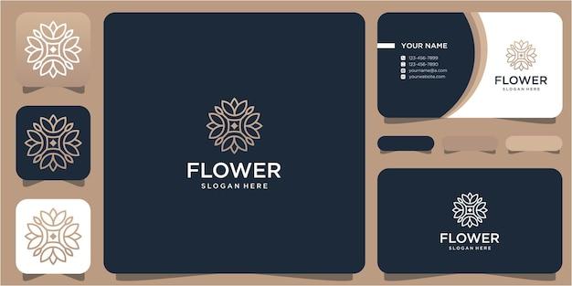 Création de logo de fleur simple