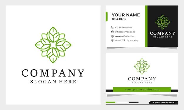 Création de logo de fleur avec style d'art en ligne. logo pour spa, salon de beauté, décoration, boutique. et carte de visite