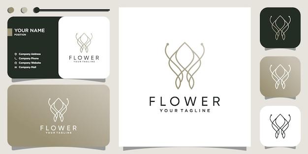 Création de logo de fleur avec un style unique vecteur premium