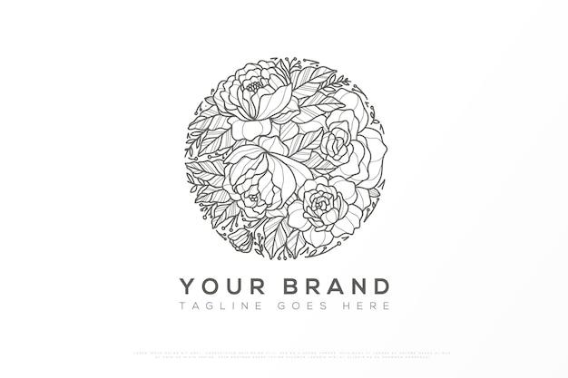 Création de logo floral dans un style féminin