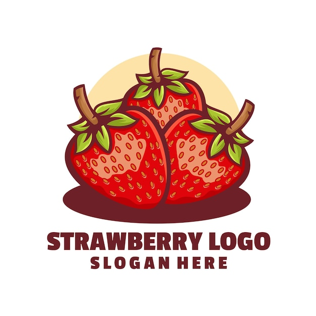 Création de logo de fraise