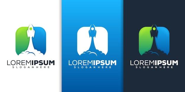 Création de logo de fusée moderne