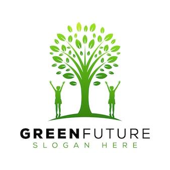 Création de logo futur arbre vert