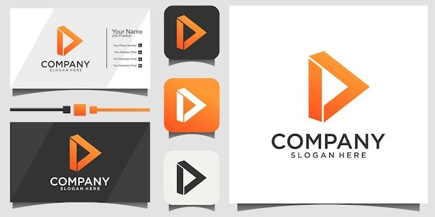 Création de logo futuriste moderne triangle