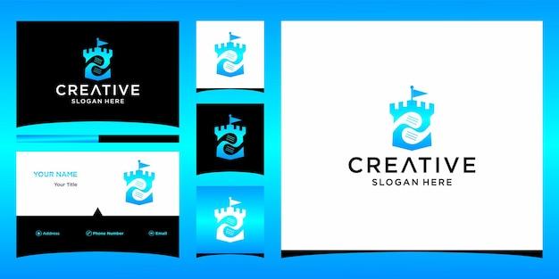 Création de logo de golf avec modèle de carte de visite