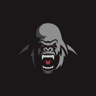 Création de logo de gorille en colère