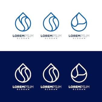 Création de logo de goutte d'eau