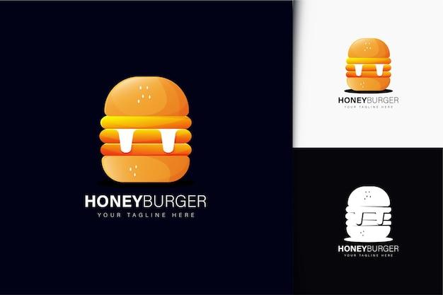 Création de logo de hamburger au miel avec dégradé