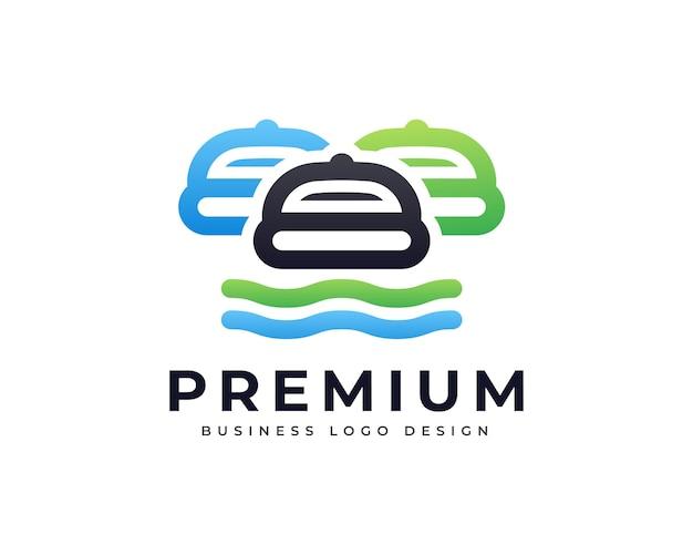 Création de logo de hamburger de nourriture de restaurant