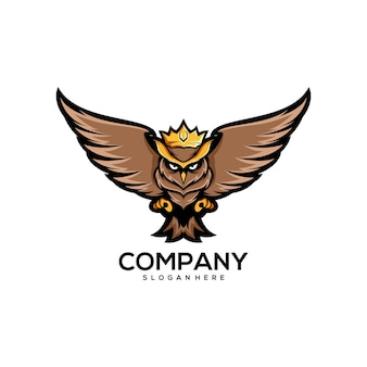 Création de logo de hibou roi