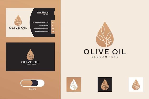 Création de logo d'huile d'olive et carte de visite