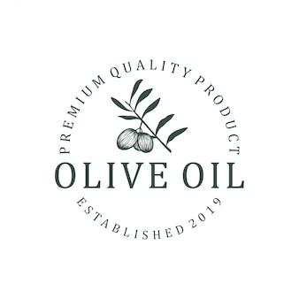 Création de logo à l'huile d'olive. nature santé aliments feuille vert européen olea