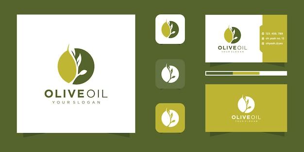 Création de logo d'huile d'olive