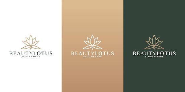 Création de logo d'idée de lotus de beauté pour votre salon d'affaires, spa, station balnéaire, cosmétique,
