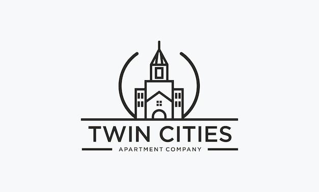 Création de logo d'immeuble résidentiel et d'appartements