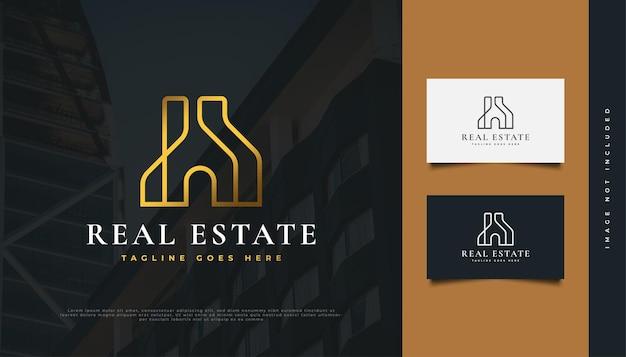 Création de logo immobilier abstrait or