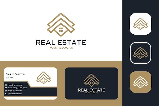 Création De Logo Immobilier Et Carte De Visite Vecteur Premium
