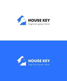 Création de logo immobilier clé maison