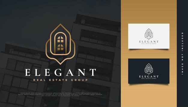Création de logo immobilier élégant en or