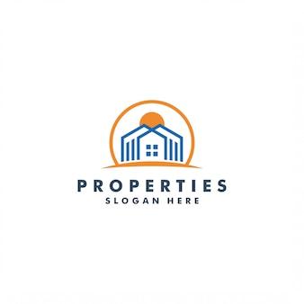Création de logo immobilier, illustration du bâtiment