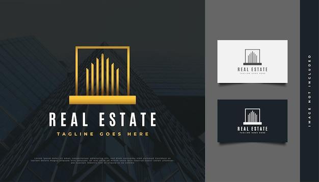 Création de logo immobilier de luxe abstrait