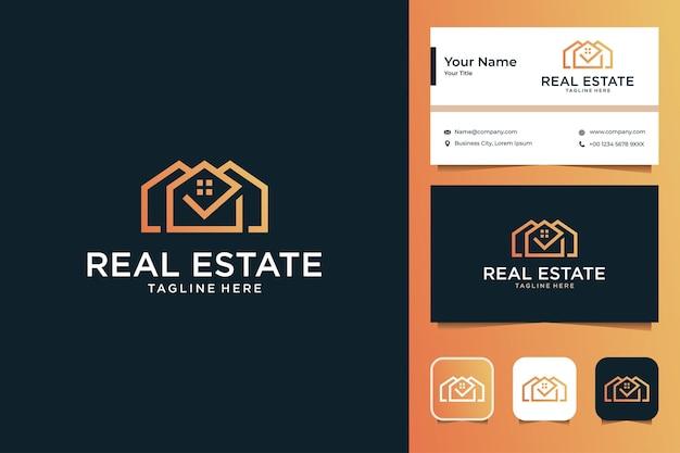 Création de logo immobilier moderne et carte de visite