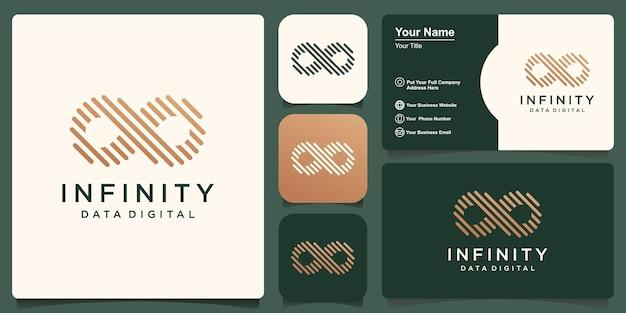 Création de logo à l'infini. boucle avec concept de ligne