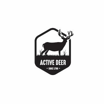 Création de logo insigne de cerf