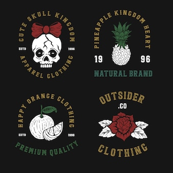Création de logo insigne rétro vintage