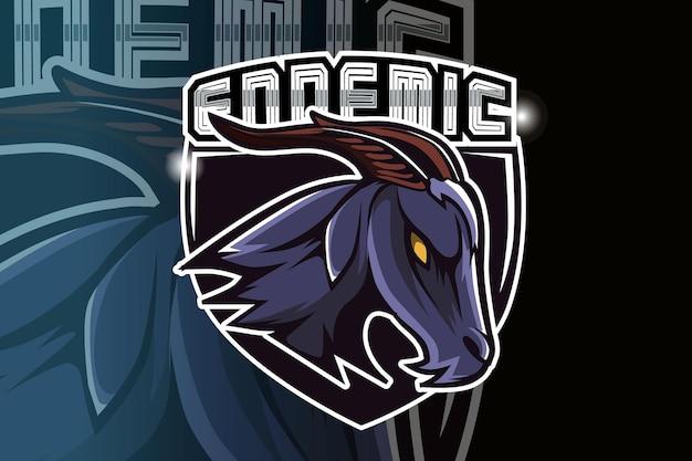 Création de logo de jeu de chèvre